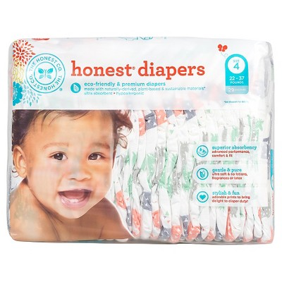 Honest Company Diapers Multi Colored Giraffes - Size 4 (29 ct)