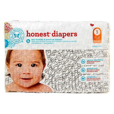 Honest Company Diapers Skulls - Size 3 (34 ct)