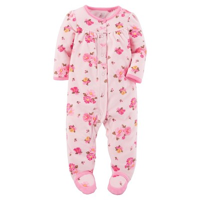 Just One You™ Made by Carter's® Baby Girls' Pink Floral Sleep N' Play - 3M