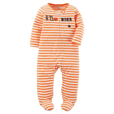 Just One You™ Made by Carter's® Baby Orange Stripe Halloween Sleep N' Play 9M