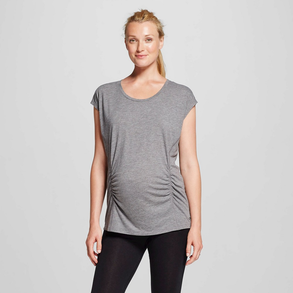 Womens Maternity Active T-Shirt - C9 Champion Black Heather L