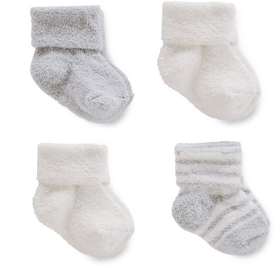 Just One You™ Made by Carter's® Baby Boys' 4pk Chenille Socks - Gray/White 3-12M