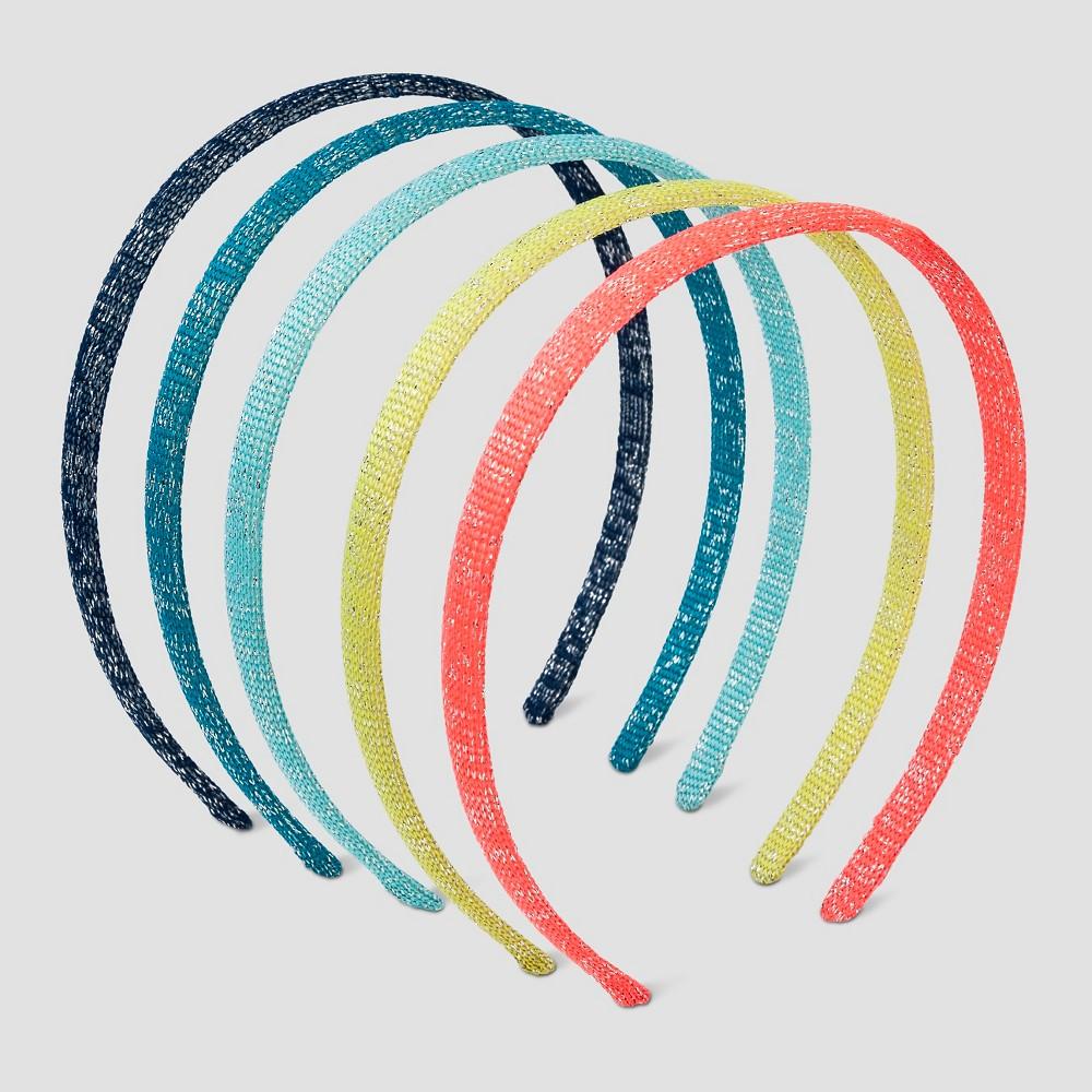Girls 6pc Headband Set Cat & Jack - Multicolor, Multi-Colored