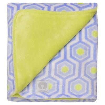 Boppy® Reversible Plush Baby Blanket - Light Blue