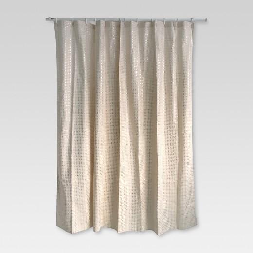 Metallic Rose Gold Print Shower Curtain Rose - Threshold™ : Target