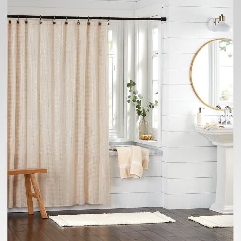 Metallic Rose Gold Print Shower Curtain