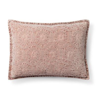 Chenile Oblong Decorative Pillow Pink - Threshold™