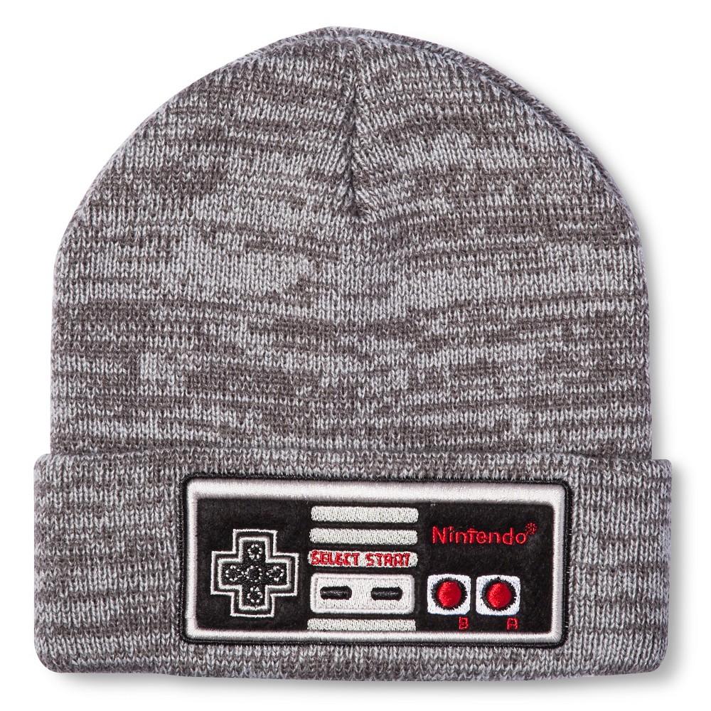 Nintendo Men's Beanies – Gray One Size, Dark Grey