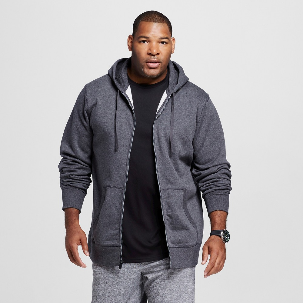 Men's Big & Tall Sizes Fleece Full Zip Hoodies - C9 Champion Dark Gray MT, Charcoal Heather Find Activewear Shirts at Target.com! • Soft fleece fabric • Drawstring hood • Full zip jacket • Average model wears XL and is 6'3.5 The Men's Tall Full Zip Fleece Hoodie from C9 Champion is your new favorite basic. This sweat shirt features a classic look with a full zip, kangaroo pocket and hoodie. Size: Mt. Color: Charcoal Heather. Gender: Male. Age Group: Adult. Pattern: Solid. Material: Cotton.