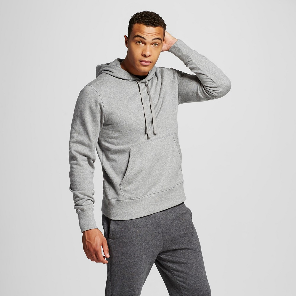 Mens Fleece Pullover with Hoodie - C9 Champion Stone (Grey) Gray XL