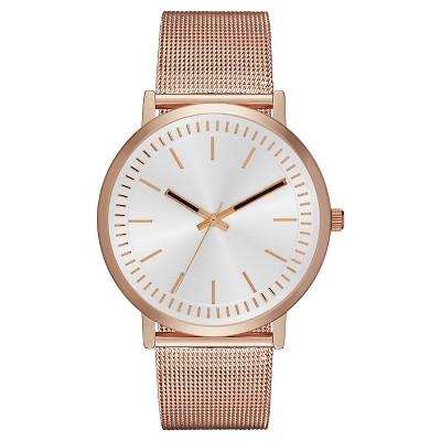 Women's Mesh Strap Slim Watch Rose Gold - Merona™