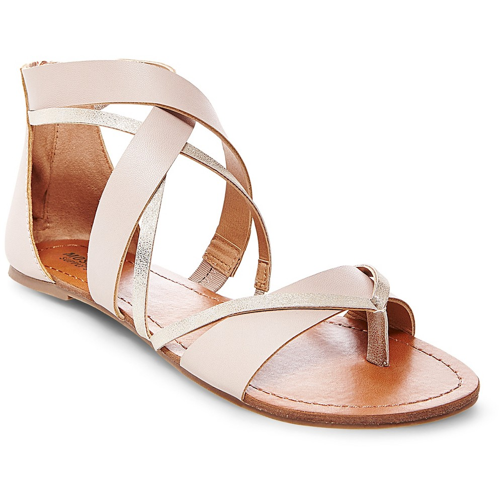 Womens Adeline Thong Sandals - Mossimo Supply Co. Taupe 5.5, Gray