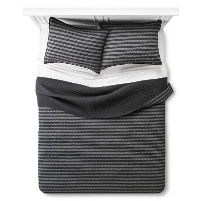 Black Stripe Jersey Quilt (Full/Queen)- Room Essentials™