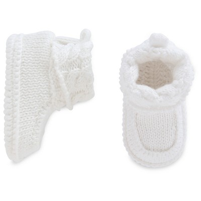Baby White Crocheted Booties - Just One You™ Made by Carter's® NB
