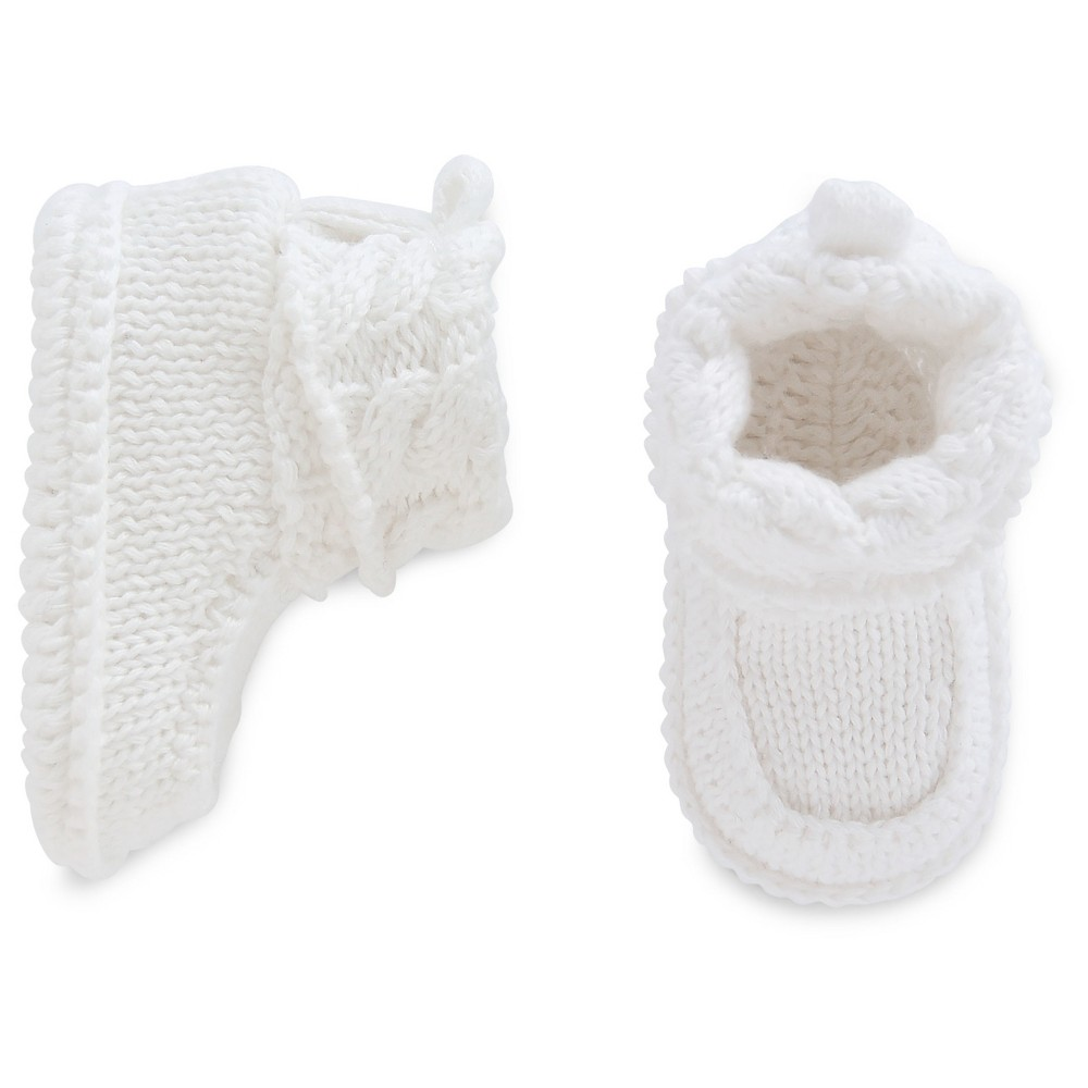 Baby White Knit Booties - Just One You Made by Carters NB, Infant Unisex