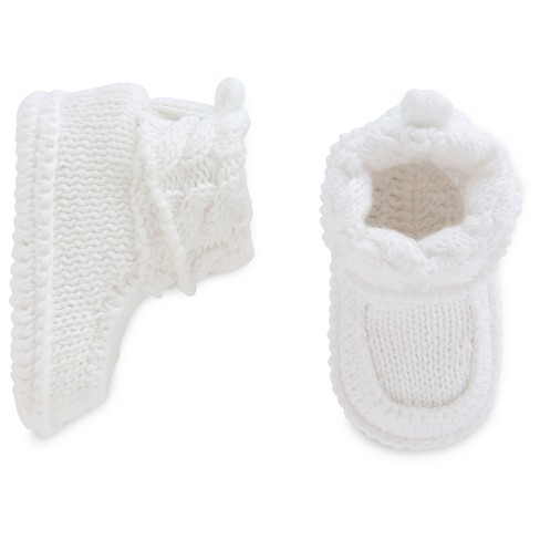 Baby White Knit Booties - Just One You™ Made by Carter's® Newborn - image 1 of 1