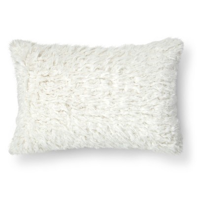 Cream Shearling Oblong Throw Pillow (14 x20 )- Threshold™