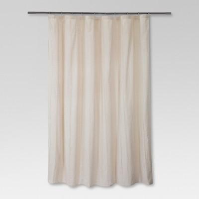 Woven Stripe Shower Curtain Linen - Threshold™