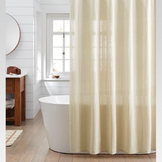 beige striped shower curtain. Woven Stripe Shower Curtain Linen  Threshold Target