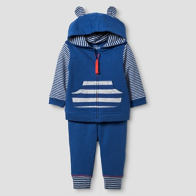 Baby Boys' Star Jogger Set Cat & Jack™ - Navy/Heather Gray 0-3M