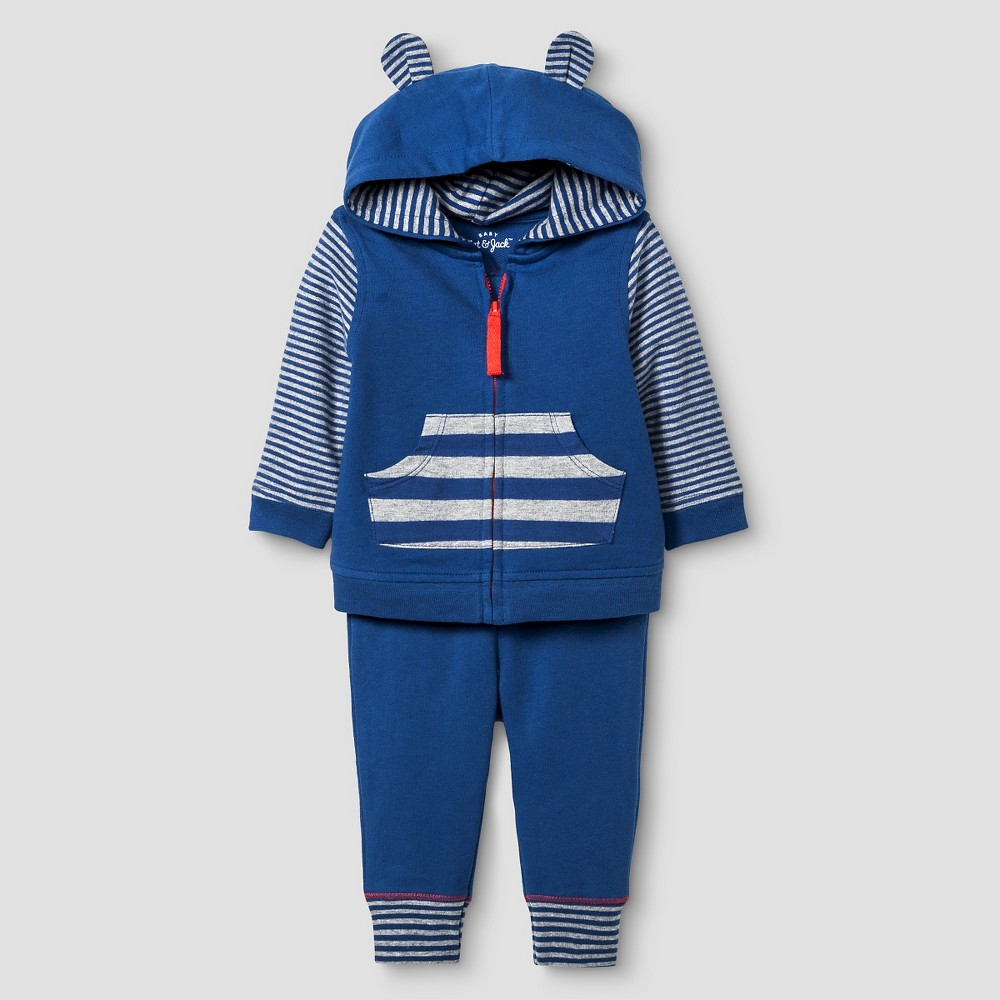 Baby Boys' Star Jogger Set Cat & Jack - Navy/Heather Gray 12M, Size: 12 M, Blue