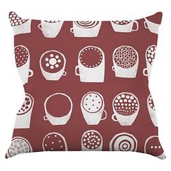 Alik Arzoumanian Coffee Ring Throw Pillow - KESS InHouse