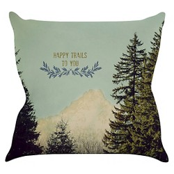 Robin Dickinson Happy Trails Throw Pillow - KESS InHouse