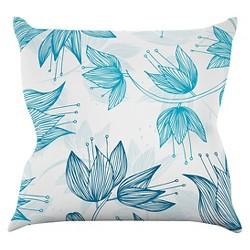 Anchobee Biru Dream Throw Pillow - KESS InHouse