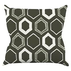 Laurie Baars Hexy Throw Pillow - KESS InHouse