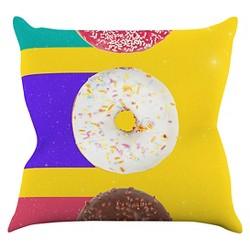 Danny Ivan Donuts Throw Pillow - KESS InHouse