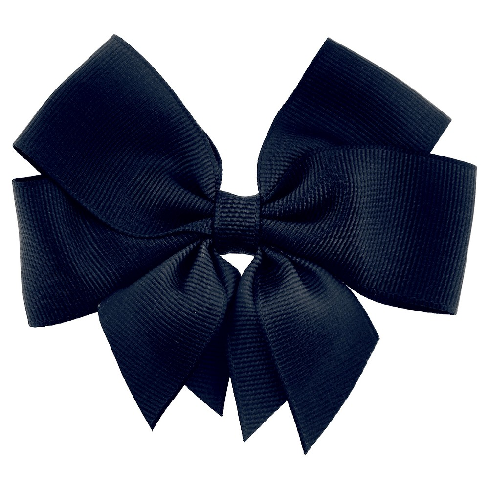 Girls Bow Clip - Cat & Jack Navy (Blue) One Size