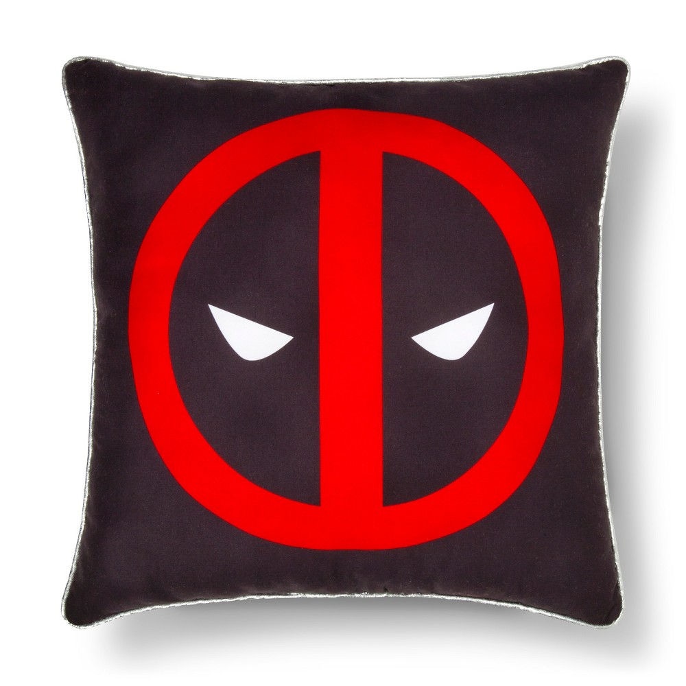 Deadpool Faces Decorative Pillow (15″x15″) Black&Red – Marvel