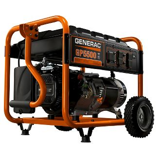 Generac 5939 - 5500-Watt Gasoline Powered Portable Generator, 49 State