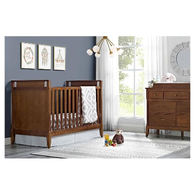Baby Relax Alvar Mid Century Crib   Walnut