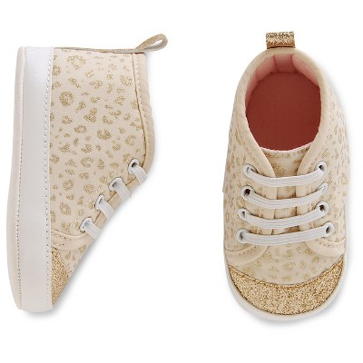 Just One You™ Made by Carter's® Baby Girls' Sparkle Hightop - Gold/White Size 1