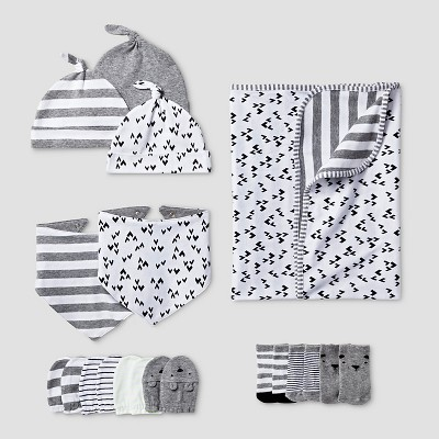 Baby 5 Piece Blanket Acessories Set Cat & Jack™ - Gray