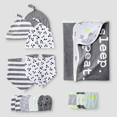 Baby Blanket Accessories Set Cat & Jack™ - White & Gray