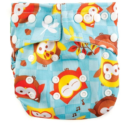 Bumkins Snap-in-One Cloth Diaper, Owls - One Size