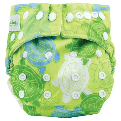 Bumkins Snap-in-One Cloth Diaper, Turtles - One Size