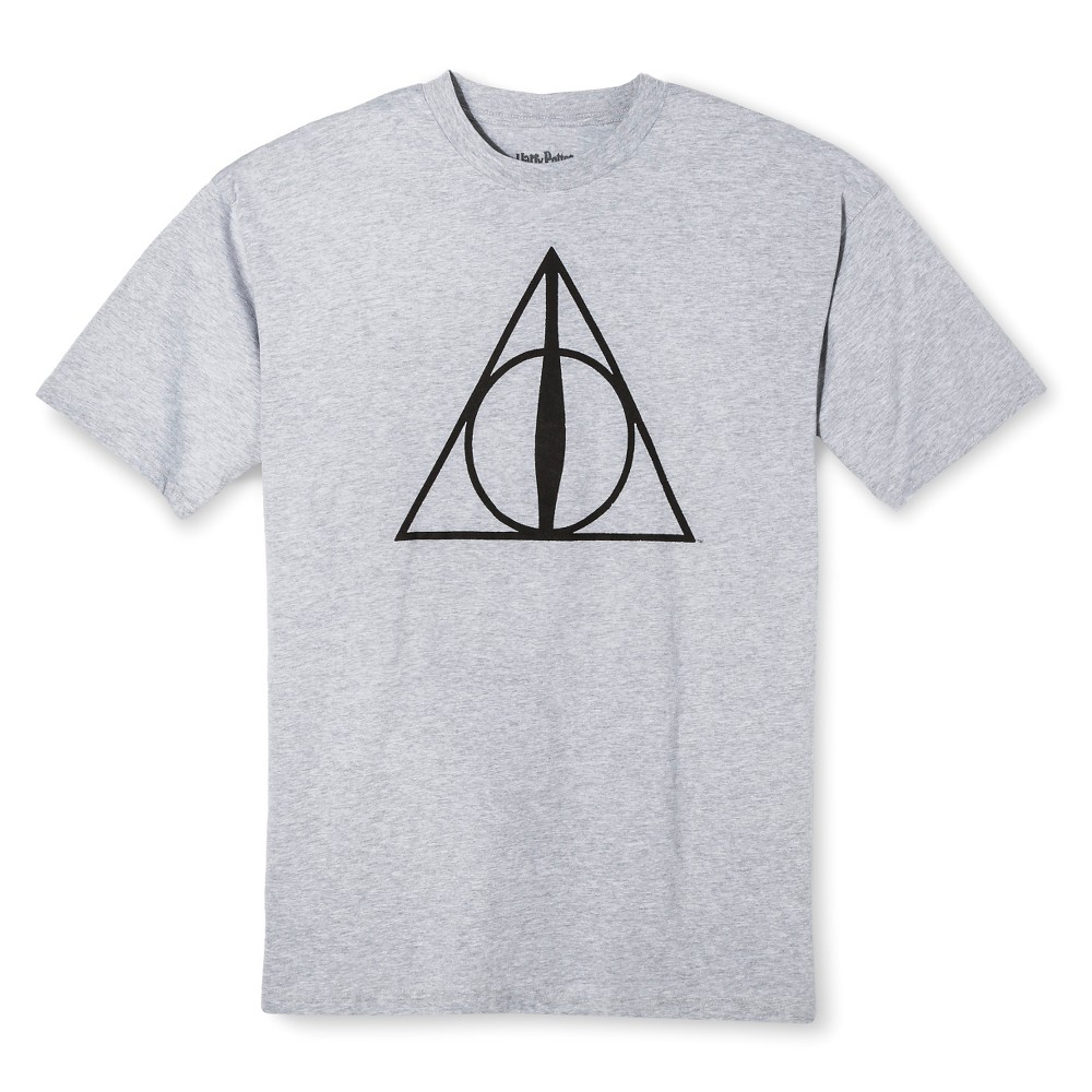Harry Potter Mens Big & Tall Deathly Hallows T-Shirt - Gray Xlt
