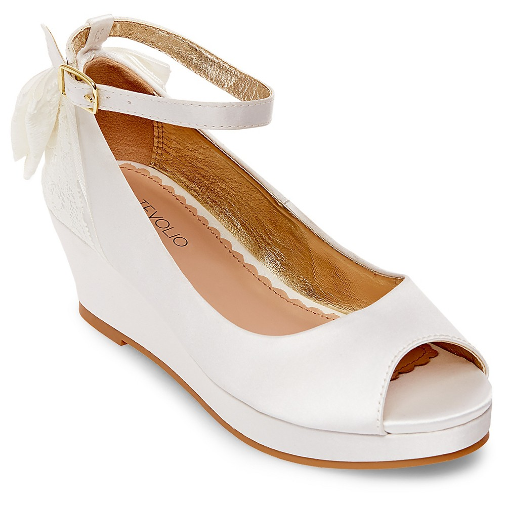 Girls Adelynn Pumps Tevolio - White 1