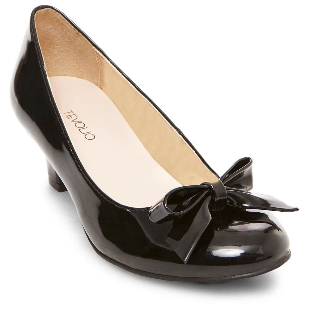Girls April Heeled Pumps Tevolio - Black 13