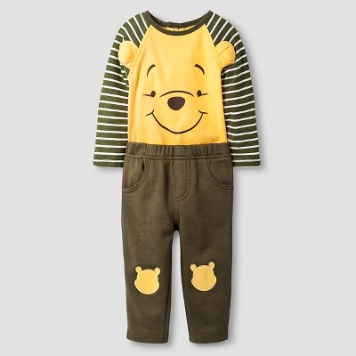 Disney® Pooh Baby Top and Bottom Set - Yellow 6-9M