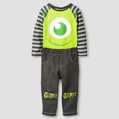 Disney® Monsters Inc. Baby Boys' Top and Bottom Set - Green 6-9M