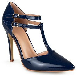 Women's Journee Collection Tru Classic T-Strap Pumps - Navy 8