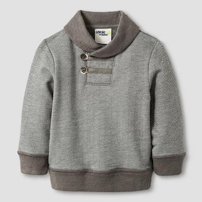 Baby Boys' Shawl Collar Pullover - Radiant Gray 12M - Genuine Kids™ from Oshkosh®