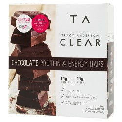Tracy Anderson Protein & Energy Bar - Chocolate - 5ct
