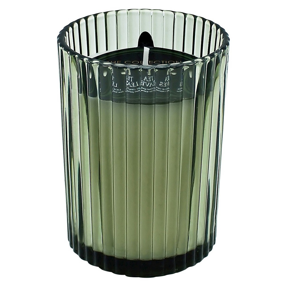Jar Candle Ribbed Glass Green 7oz - THE Collection by Chesapeake Bay Candle
