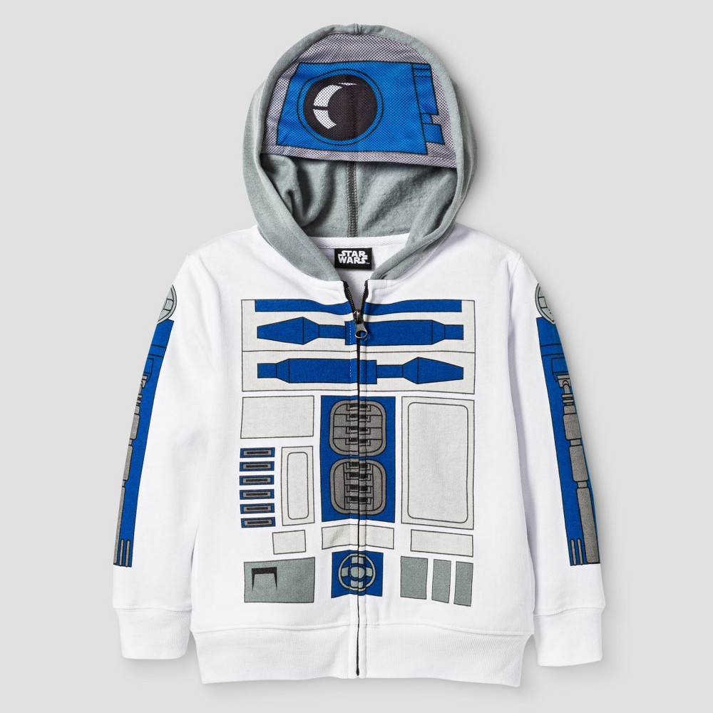 Star Wars Toddler Boys R2D2 Costume Hoodie 3T - White