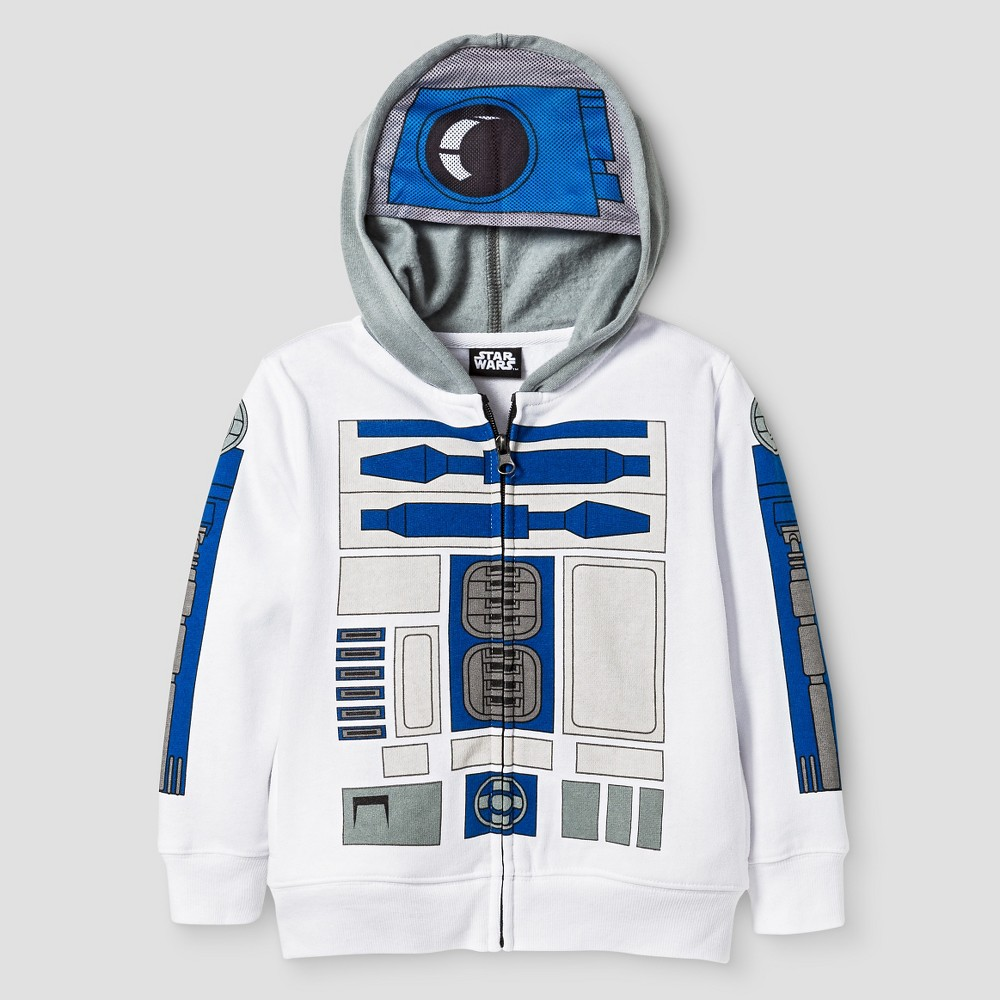 Star Wars Toddler Boys R2D2 Costume Hoodie 4T - White